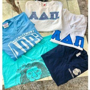 Tops - Bundle of Alpha Delta Pi T-Shirts (Sizes Vary)